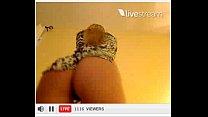 Loira Gostosa se exibindo na Twtcam