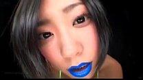 Japanese Blue Lipstick (Spitting-Fetish) porn videos