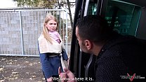 takevan stranger offer a ride to cute lost blonde and fuck her in driving van