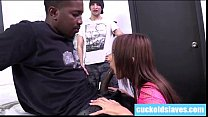Sexy Deanna Dare sucks a huge black cock