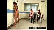 2 Mistresses Fuck a Slave Bitch!