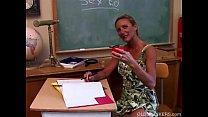 Horny mature teacher fucks her pussy and sucks ...