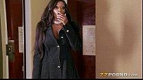 Busty ebony call girl Diamond Jackson loves hug...
