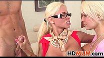 Blonde Mom Gf threesom porn videos