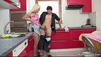 Wife comes in and sees mother riding her man's ...