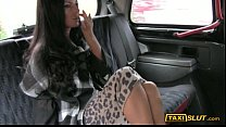 Busty Elicia fucked for a free cab fare with th...