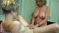 oldnanny lesbian couple crazy mature learn mast…