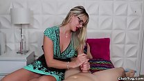 club-Super hot milf jerks off a young man