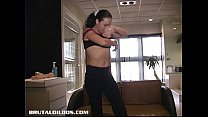 dildos brutal thick with holes her drilling Angelina