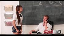 High School Girl Caught By Teacher Changing Gra...