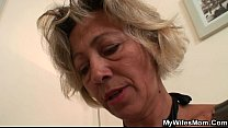 Hot mother-in-law sucks and rides his horny dick porn videos