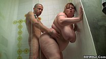 big booty fatty screwed in the shower