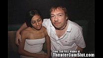 theater porn the at cum swallowing latina teen Busty