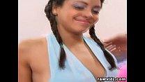 Michah May Pigtail Brunette Teen Banged Hard thumbnail