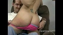 horny girl spanked by guy
