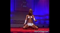 stage on dildoing striper Foxy