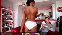 Blow Me POV - Petite Ebony Bab