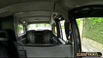 Horny Olga rides a cab and gets pounded hard in...
