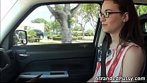 Stranded teen Tani gets banged in the car by th...