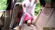 Blondie babe gets her pussy crushed by drivers ...