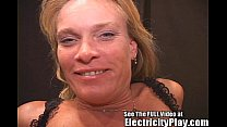 thin milf fucked hard with electricity