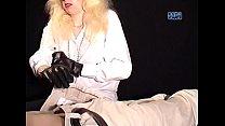 Giving a handjob in heavy long gloves