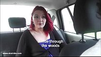 czech 19yo redhead does wild blowjob for taxidriver