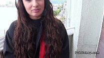 amateur student blowjob on the balcony