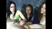 Three mistresses tease but not let man reach or...