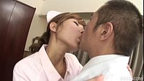 Raunchy Nurse Aoba gives her Doctor the blowjob...
