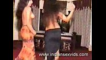 Indian lesbians doing a sexy mujra on camera thumbnail