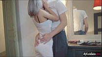 Tracy Loves gives her lover a blowjob for their...