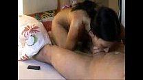 young brunette fucks her man on webcam perfectc...