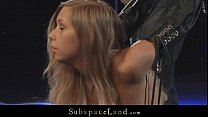 Innocent blonde slave spanked and hardfucked in...