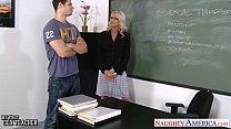 Sex teacher Emma Starr take cock in classroom porn videos