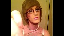 Eating my cum- Crossdresser Sissy Fay