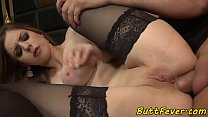Glam eurobabe assfucked in stockings