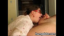 Chubby wife sucks cock and gets facialized