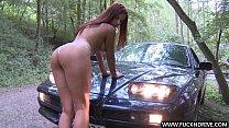 Hot ass car babe Angel Rivas