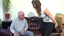 Old Grandfather Seduce not Grand-daughter to First Fuck porn videos