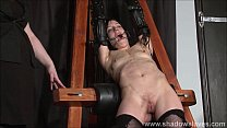 enslaved painslut elise graves whipping in hard bdsm punishment session of tit t