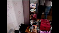 russian young couple homesex made video