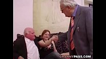 Young girls dance for grandpa before suck his cock thumbnail
