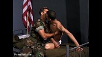 horny sergeant gets the best of recruit's butthole – Free Porn Video