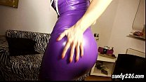 shoot on my rubber dress