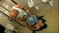 Hot top dad fuck twink bottom boy in toilet raw