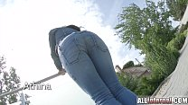 All Internal black haired Athina gets a creampie