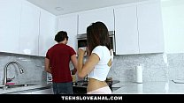 ass the in fucked teen brunette - Teensloveanal