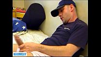 Pierre a real str8 delivery guy gets wanked his...