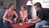 strip poker winner gets handjob from Amber Lynn...